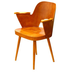 Plywood and oak wood desk chair by Oswald Haerdtl - 1960s