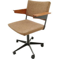 Desk armchair in fabric and steel by André Cordemeijer for Gispen - 1960s