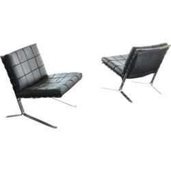"""Pair of armchairs """"Joker"""" by Olivier Mourgue for Airborne - 1960s"""