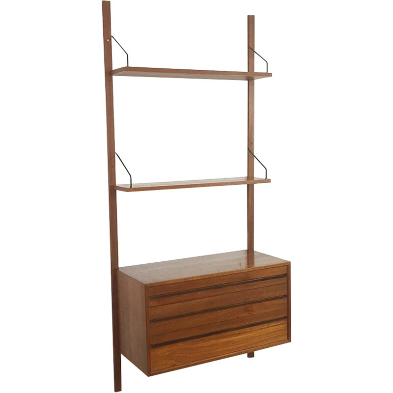 Vintage wall unit in teak with by Poul Cadovius for Cado - 1960s