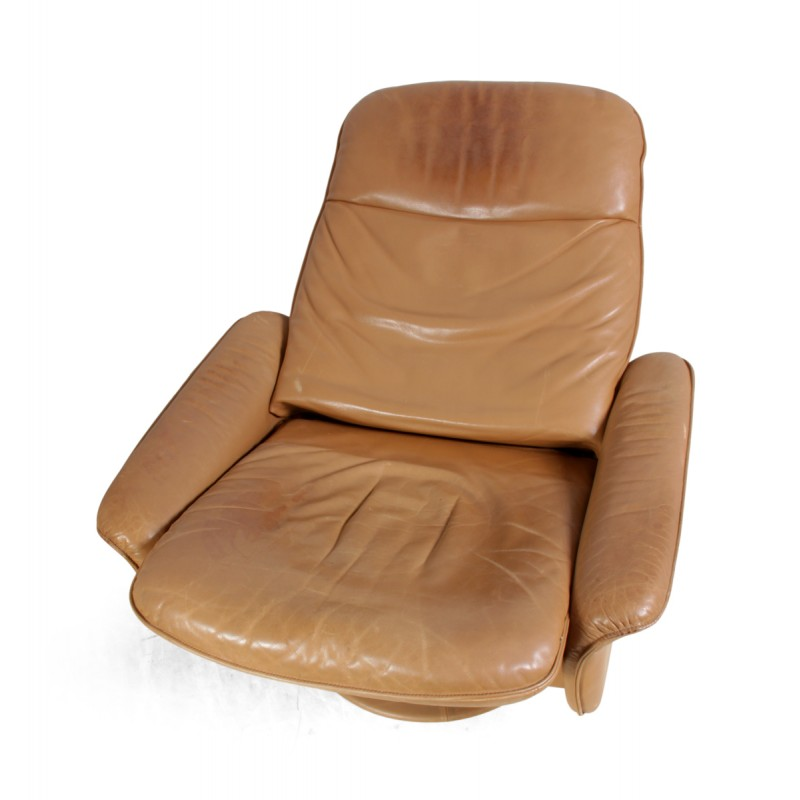 Camel leather swivel chair De Sede 1960s Design Market