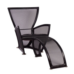 Lounge chair with ottoman Privè by Paolo Nava for Arflex - 1980s