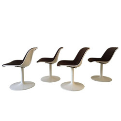 Set of 4 dining chairs model Spirit by Hajime Oonishi for Artifort - 1970s