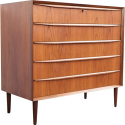 Scandinavian chest of drawers in teck - 1960s