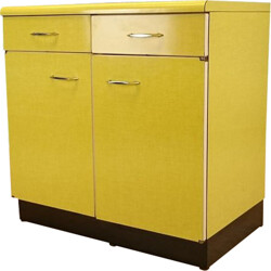 Low sideboard in yellow formica - 1960s