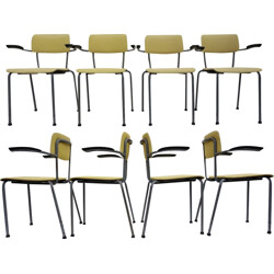 Set of 8 chairs by Friso Kramer for Ahrend de Cirkel - 1960s
