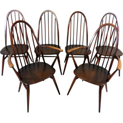 Set of 6 Windsor dining chairs by Lucian Ercolani for Ercol - 1950s