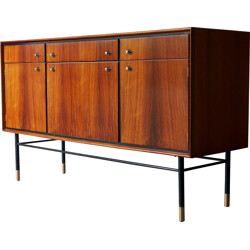 Rosewood and mahogany sideboard produced by Heals - 1950s
