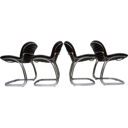 Set of 4 Sabrina dining chairs by Gastone Rinaldi for Rima – 1970