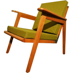 Outdoor reupholstered armchair - 1960s