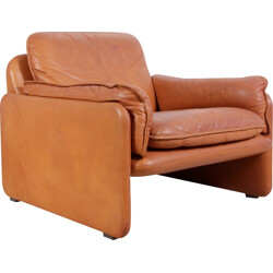 Leather easy chair produced by De Sede model DS-61 - 1980s