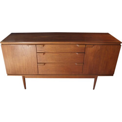 Small sideboard in teak with 3 drawers in the middle - 1960s