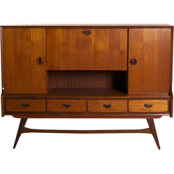 Dutch highboard in teak by Louis van Teeffelen for Webé - 1960s