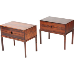 Pair of Danish Rosewood Night Stands by Kai Kristiansen for Aksel Kjersgaard - 1960s