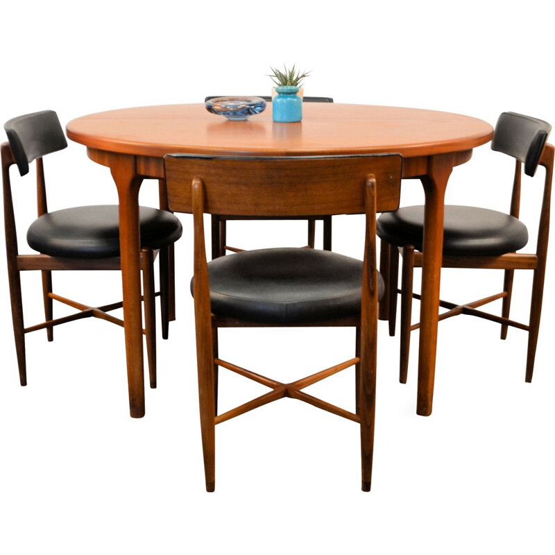 Mid-century modern G-Plan dining-set by V.B. Wilkins - 1960s