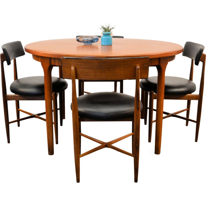 Mid Century Modern G Plan Dining Set By V.B. Wilkins   1960s