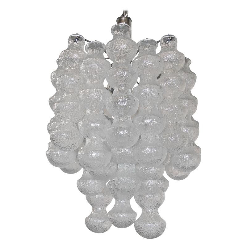 Large layered bubble glass chandelier - 1960s
