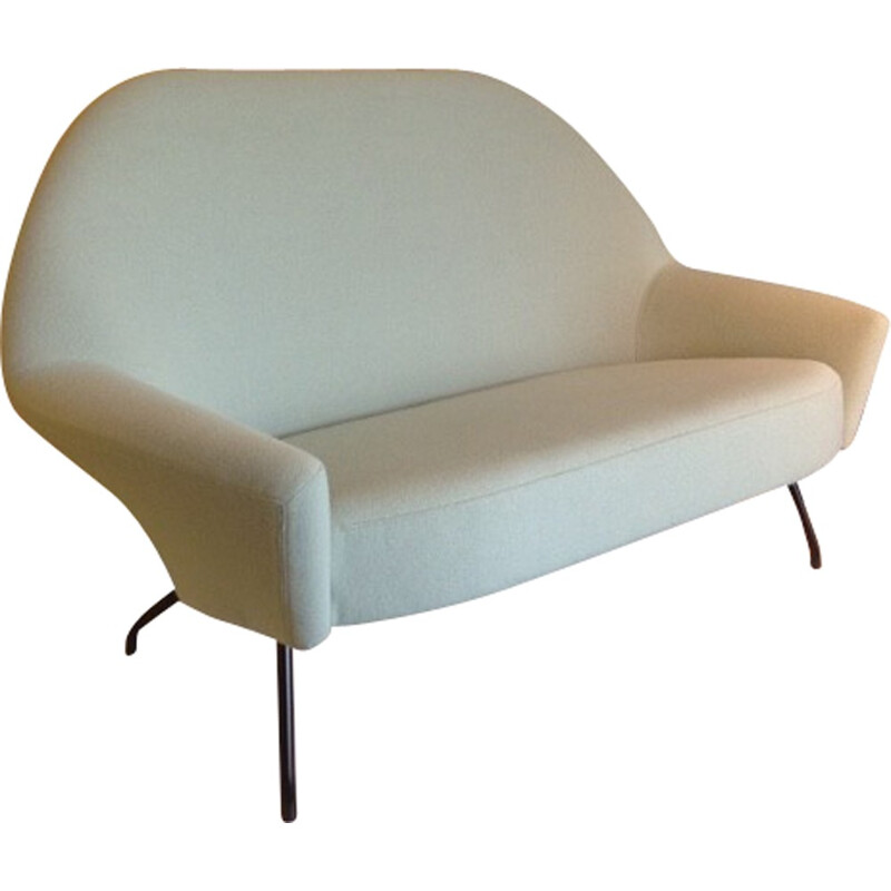 Sofa 772 light green by Joseph-André Motte, Steiner - 1950s
