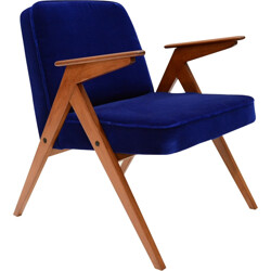 Blue armchair model BUNNY - 1960s