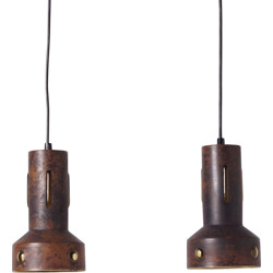 Pair of Copper pendant lights by Nanny Still - 1960s