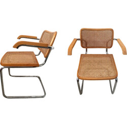 Pair of armchairs model Cesca S64 by Marcel Breuer - 1970s