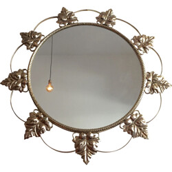 Flower-shaped vintage mirror - 1950s