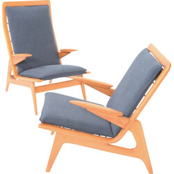 Set of 2 De Ster Gelderland easy chairs - 1960s