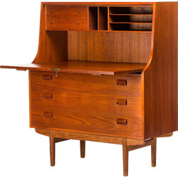 Teak writing desk by Borge Mogensen for Soborg Mobel - 1950s