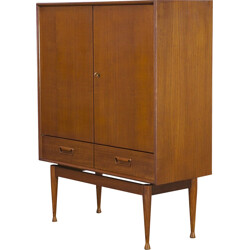 Teak cabinet with 2 doors and 2 drawers produced by Vinde Mobelfabrik - 1960s