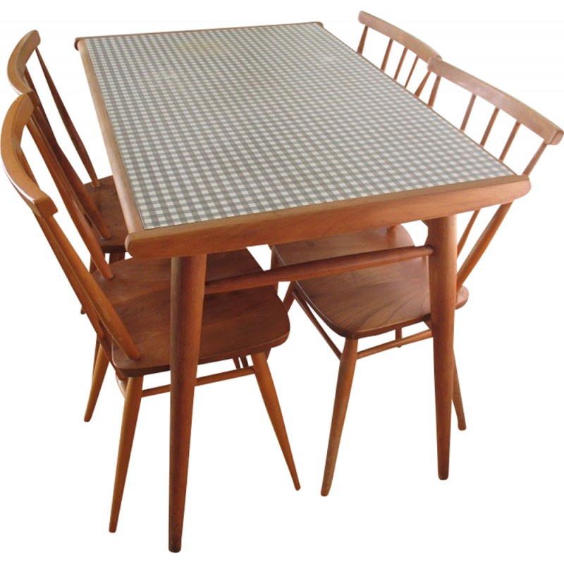 Dining set Ercolani in beech and formica - 1960s