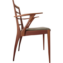 MacIntosh teak chair with arms - 1960s