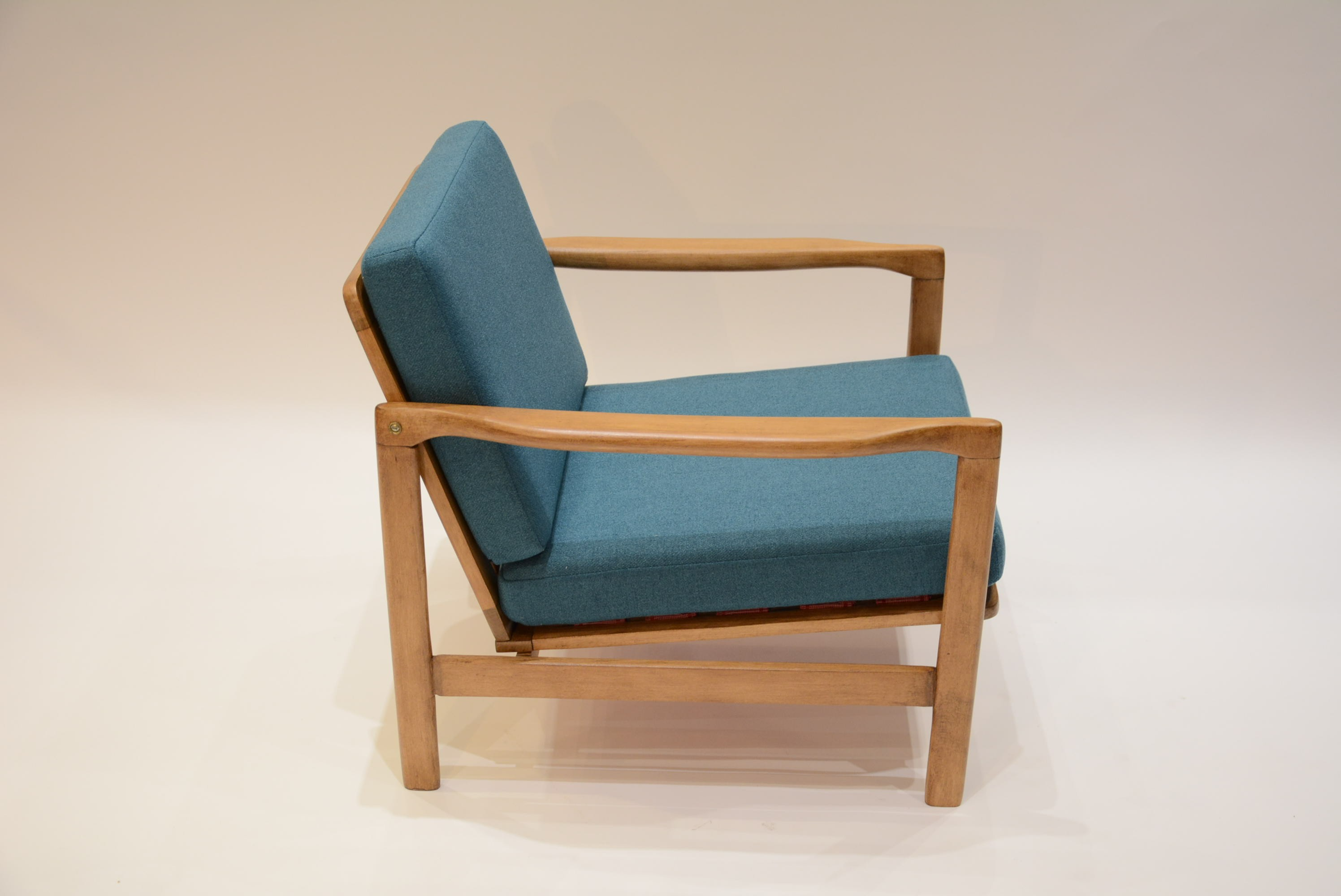 Peacock Blue Armchair From The Former GDR  1970s. Previous Next
