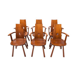 Set of 6 French Mid-Century Dining Chairs - 1960s