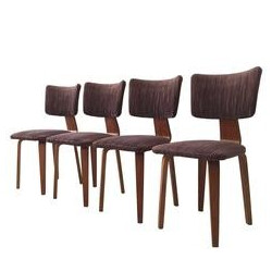 Set of 4 dining Chairs by Cor Alons for den Boer Gouda - 1940s