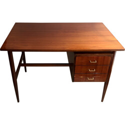 Mid century desk in lacquered wood - 1950s