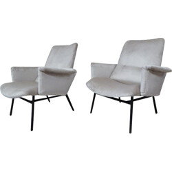 Pair of SK 660 armchairs by Pierre Guariche - 1950s