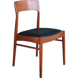 Danish Teak Chair with Curved Backrest - 1960s