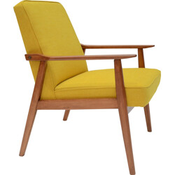 Polish yellow armchair - 1960s
