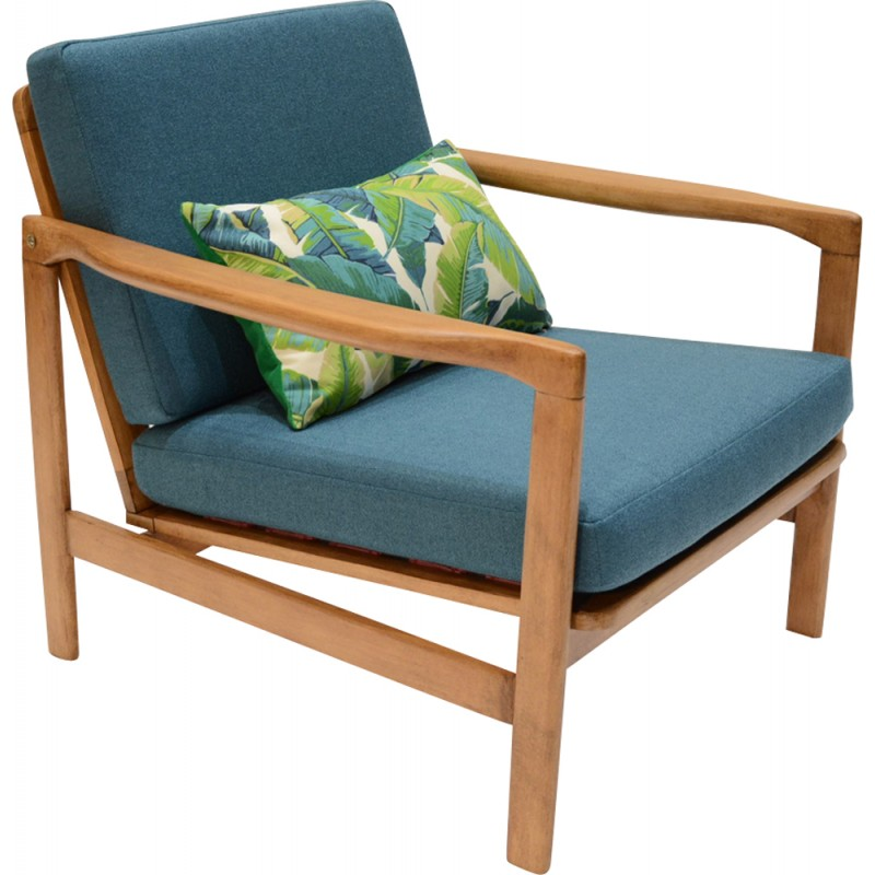 Peacock Blue Armchair From The Former GDR  1970s