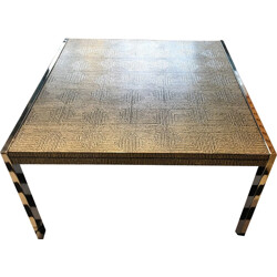 Mid-century steel and aluminium coffee table made in Germany - 1970s