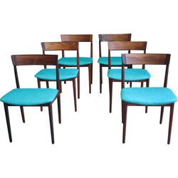 Set of 6 dining chair, model 39 in rosewood, Henry Rosengren Hansen - 1960s