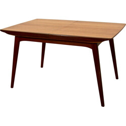 Dutch Dining Table in teak by Louis Van Teeffelen for WéBé - 1960s