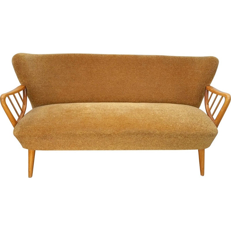 Mid century restored orange sofa  - 1950s