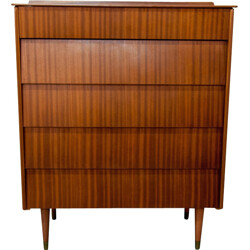 Mid century large chest of drawers with tapered legs - 1960s