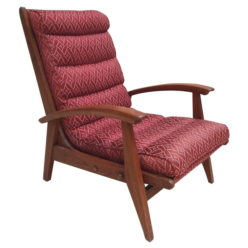 """""""FS 134"""" armchair with """"Free-Span"""" system, Guy BESNARD - 1960s"""