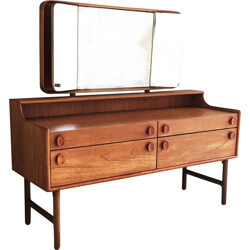 Mid century dressing table by Meredrew with adjustable side mirrors - 1950s