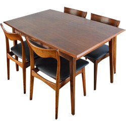 Dining table in teak, 4 to 6 people - 1960s
