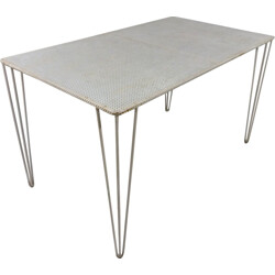 Perforated Steel Garden Table - 1950s