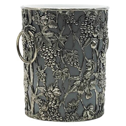 Champagne bucket with silvered colored floral decor frame - 1990s