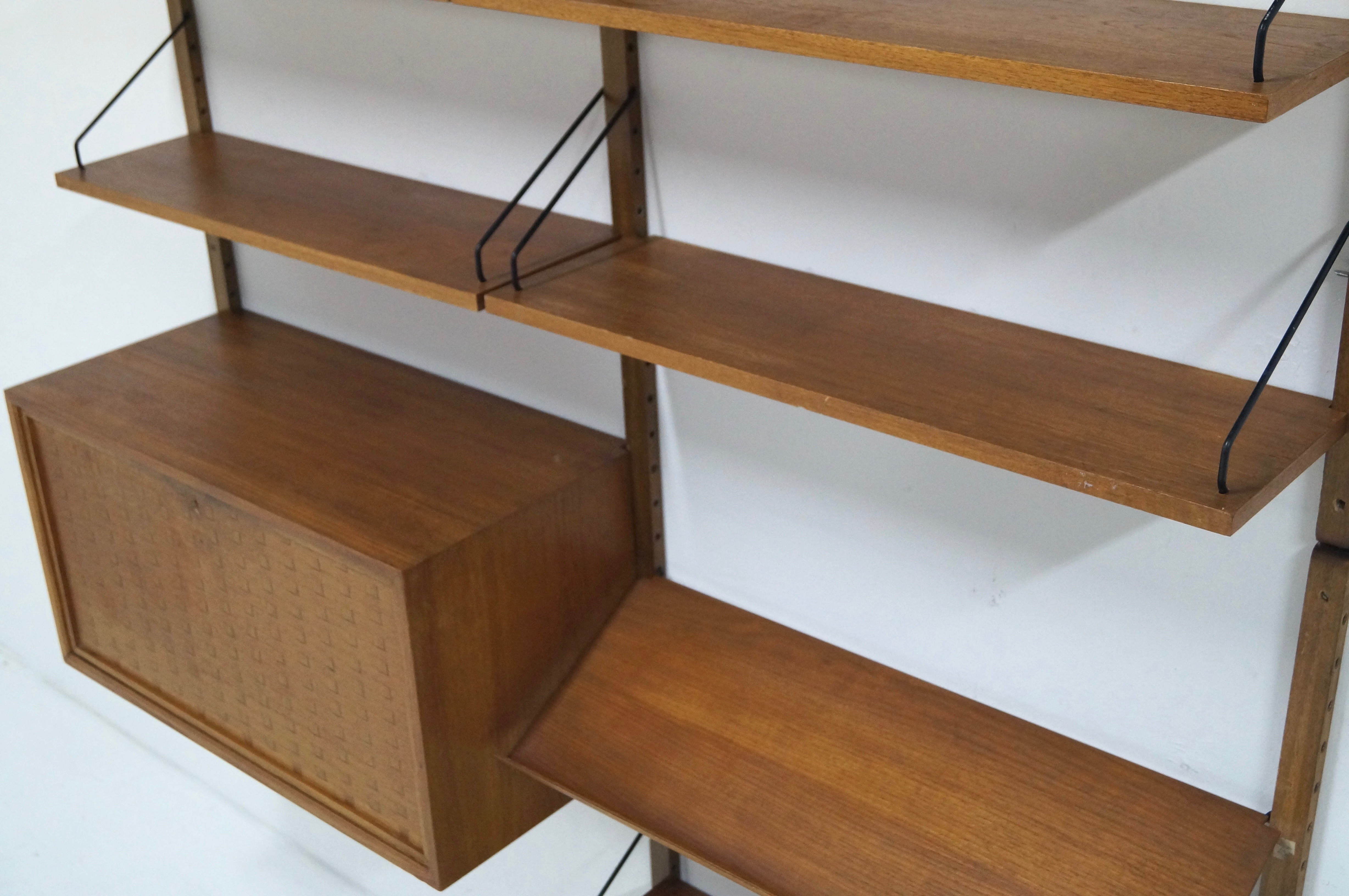 "Mid Century ""Royal System"" Teak Wall Unit by Poul Cadovius for Cado"